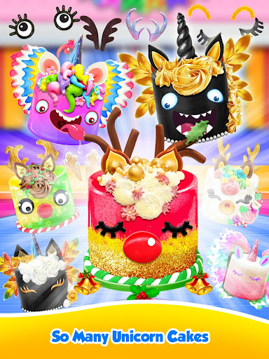 Unicorn Food - Sweet Rainbow Cake Desserts Bakery 2.7 screenshots 16