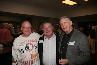 Photo: September 24, 2010: A Peterson Era Reunion. Former team members from 1960-1970 who were part of the Bill Peterson teams at FSU. The reunion was held in the Varsity Club on Friday night and on the field Saturday before the Wake Forest Game.