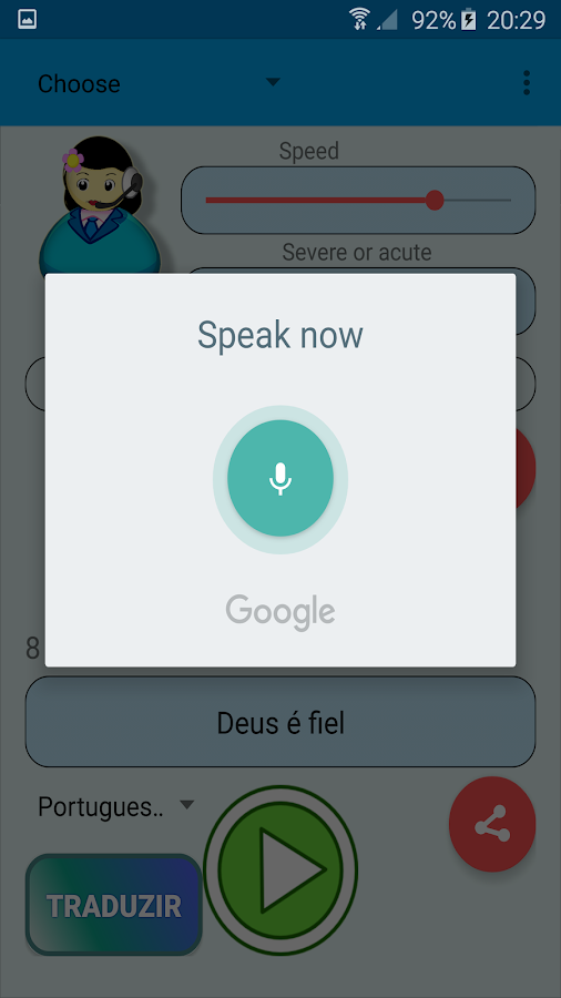 Voice of the Woman Translator- screenshot