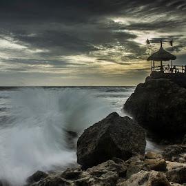 Dark sunset by Poe  William Djava - Landscapes Beaches ( sky, beach, sunset, dramatic, exotic )