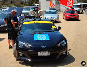 Photo: Windscreen banners for 75 cars for Jayco Herald Sun Tour at Birrarung Marr on behalf of USM Events #heraldsuntour #windscreenbanners #cardecals #sticker #bonnetdecals #Subaru