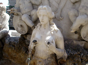 Photo: Interesting plumbing in the Amalfi piazza fountain