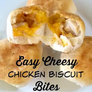 Easy Cheesy Chicken Biscuit Bites.