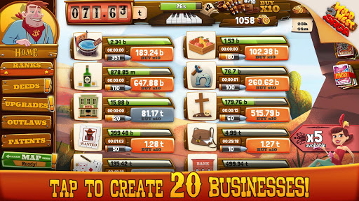 Wild West Idle Tycoon Tap Incremental Clicker Game  screenshots EasyGameCheats.pro 2