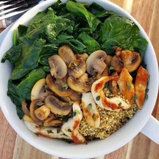 Mushroom and Chicken Marsala Clean Eating Bowls.
