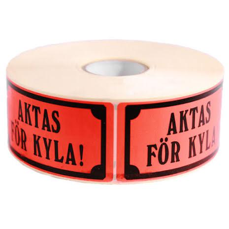 Aktas för Kyla Etikett