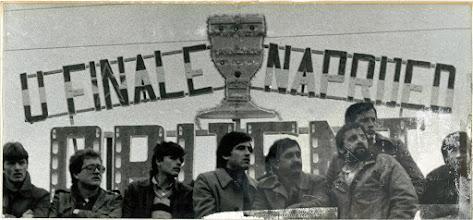 Photo: Orijent - Buducnost Titograd 0-0 ( 2-4 penali), 18 kupa Martala Tita, sezona 1980-81