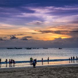 Jimbaran by Sam Song - Uncategorized All Uncategorized ( holiday, bali, sunset, indonesia, jimbaran, beach )