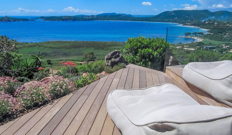 Villa avec piscine en bord de mer Zonza