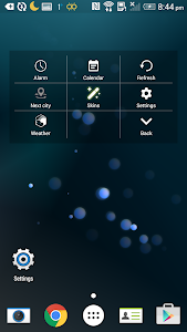 3D Space Fighting Clock Widget screenshot 2