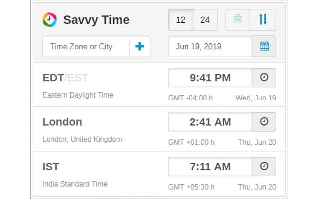 Time Zone Converter Savvy