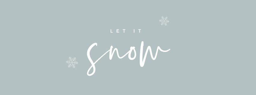 Let It Snow - Facebook Personal Cover Template