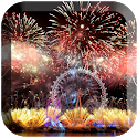 Fireworks in new years LWP icon
