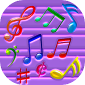 Colorful Musical Notes LWP