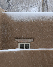 Photo: Santa Fe scene in snow  4/17/09