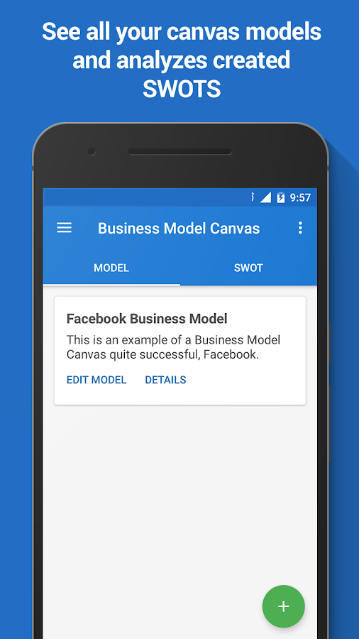 Business Model Canvas & SWOT- screenshot