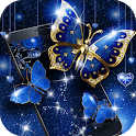 Shiny Blue Butterfly Theme icon
