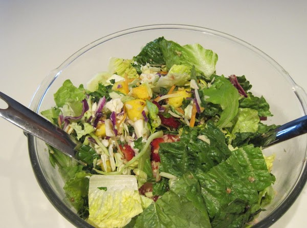 Wash, rinse and chop all salad ingredients, set aside in the refrigerator.