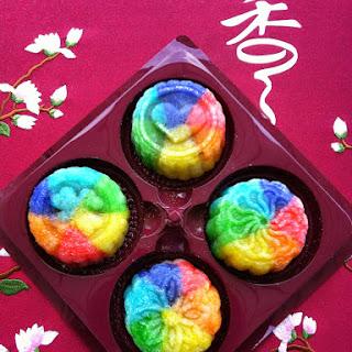 Rainbow Snowskin Mooncake.