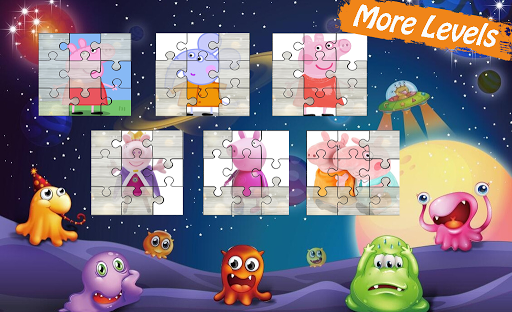 Peppa Puzzle For Kids-Pink Pig 1.0.4 screenshots 2
