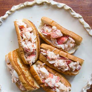 New England lobster rolls.