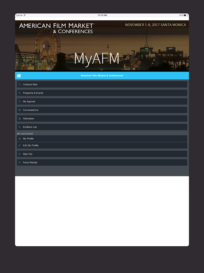 MyAFM- screenshot