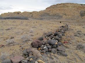 Photo: Low rock wall