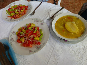 Photo: Lunch, home cooking in the countryside