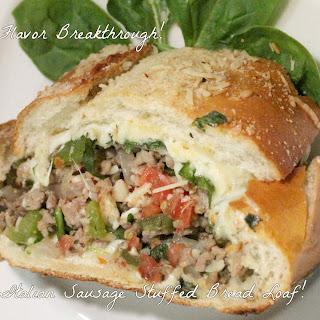 Italian Sausage Stuffed Bread Loaf!.