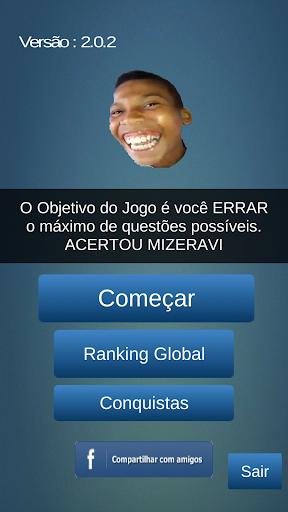 Mizeravi Matemática Quiz screenshot