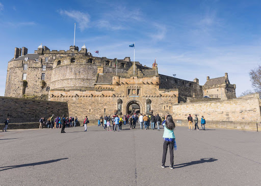 The esplanade of Edinburgh Castle in Scotland, which dates in part to the 12th century.