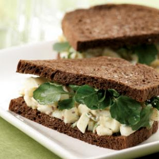 Egg Salad Sandwiches with Watercress.