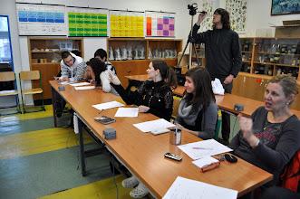 """Photo: Chemická soutěž """"Mikuláš hledá talent 3"""" - učebna přírodních věd (středa 12. prosinec 2012)."""