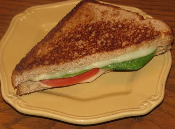 Fresh Mozzarella, Spinach And Tomato Grilled Cheese Recipe