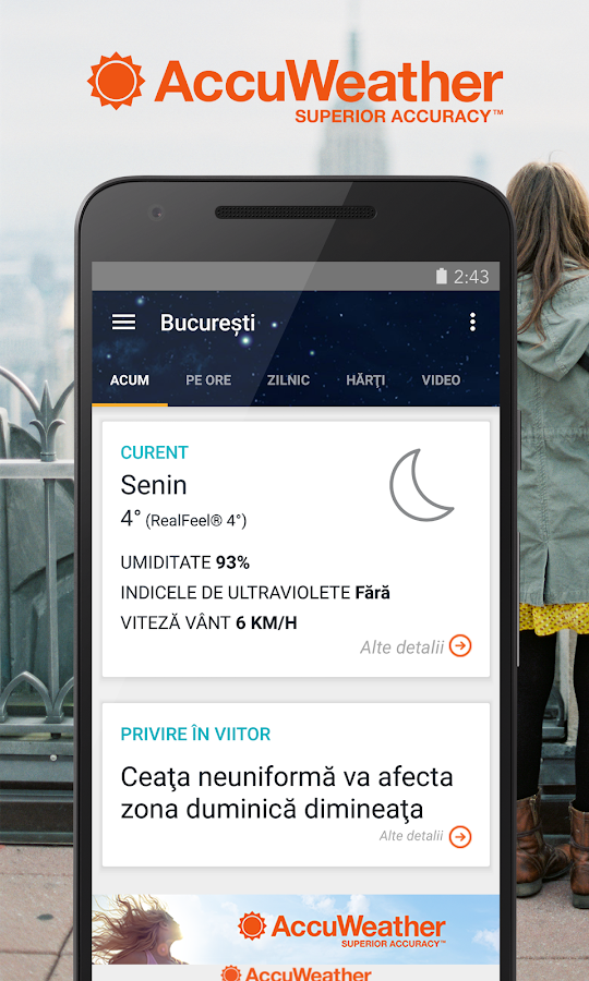 AccuWeather Meteo– captură de ecran