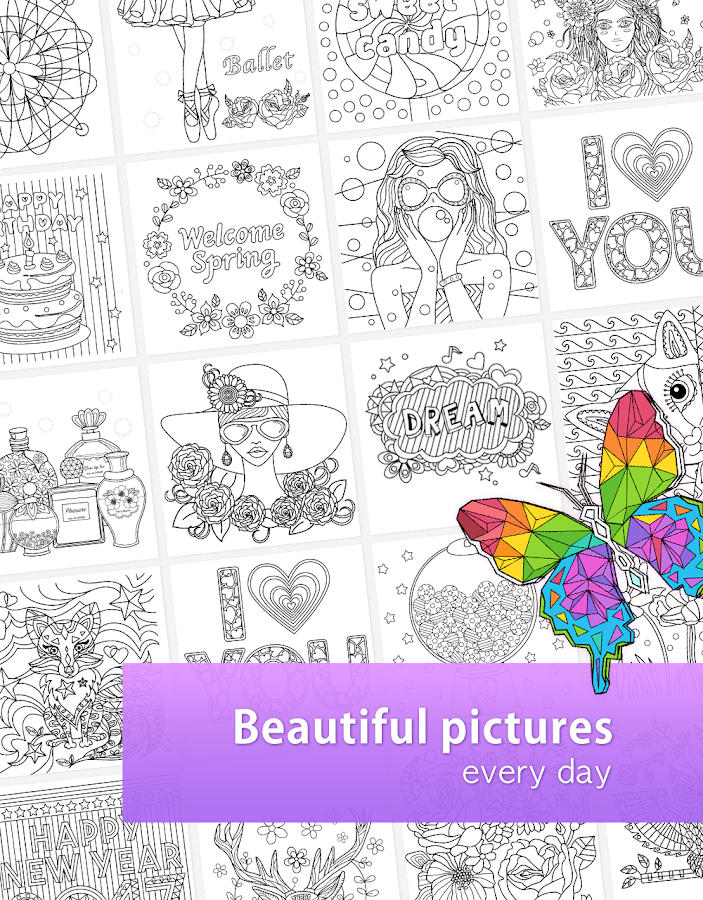 colorfil adult coloring book screenshot - Good Touch Bad Touch Coloring Book