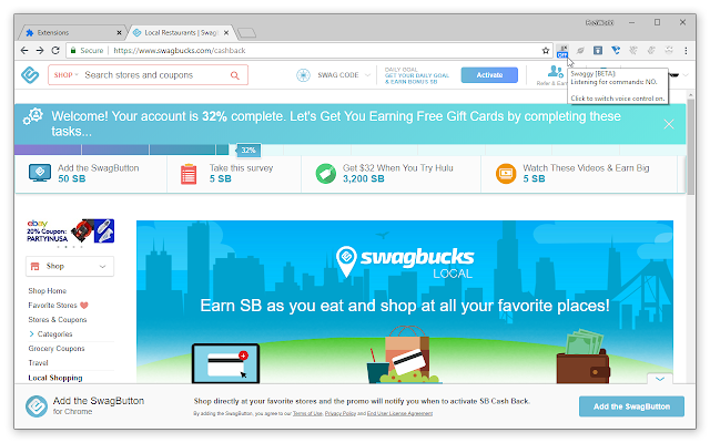 Swaggy [BETA] – more accessible Swagbucks