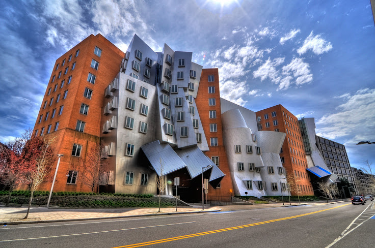 Exterior of the Stata Center, from Vassar St. Photo: Juan Pablo Gutierrez.