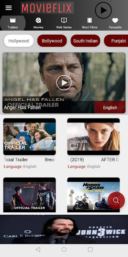 MovieFlix Free Movies & Shows App Report on Mobile Action