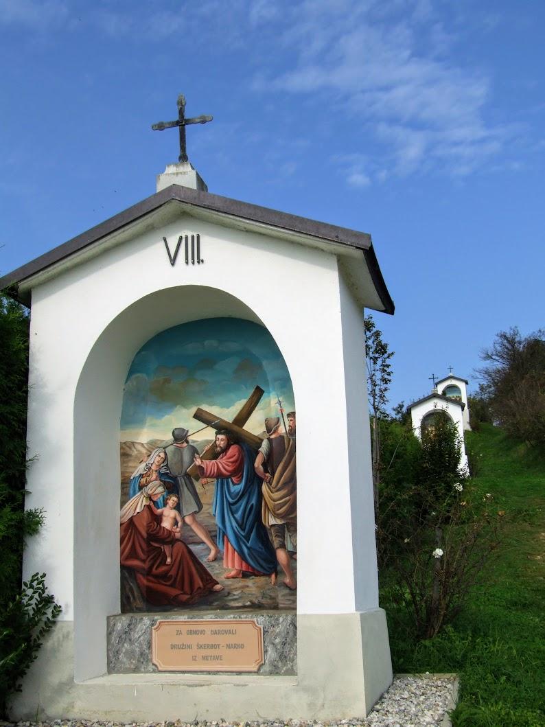 Maribor, Malečnik - Križev pot na Gorco (stációs keresztút a Gorca-dombon, 349 m)