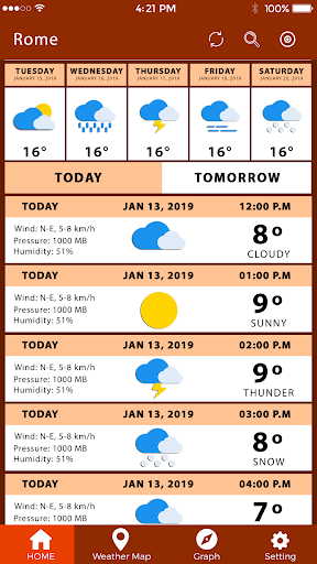 Screenshot for Weather Tomorrow Weather Channel Todays Weather in United States Play Store