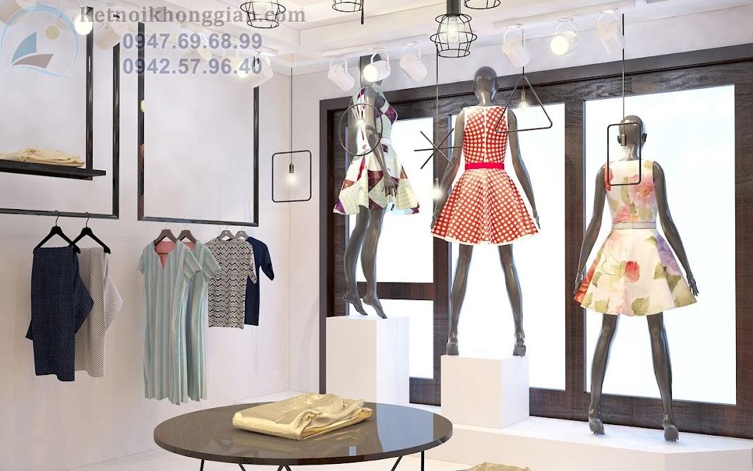 thiết kế nội thất shop đơn giản nhưng sáng tạo