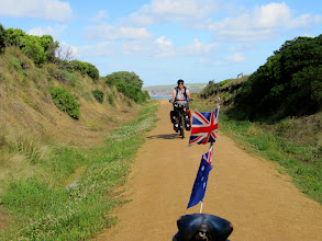 Photo: Year 2 Day 154 -  Dee on the Rail Track out of Kilcunda