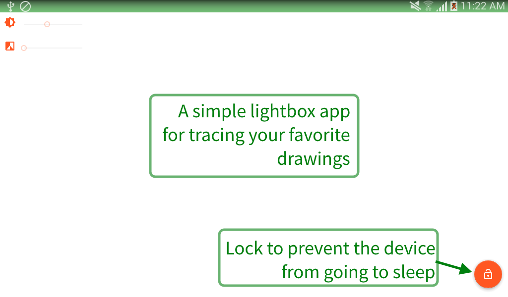 Lightbox tracing app- screenshot
