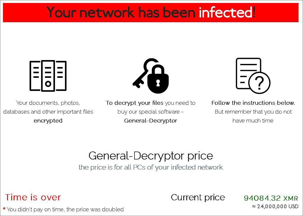 Demanda de rescate de REvil por el ciberataque de Asteelflash
