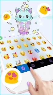 Kitty Bubble Tea Keyboard Background 4
