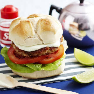 Tuna Burger with Wasabi Mayo.