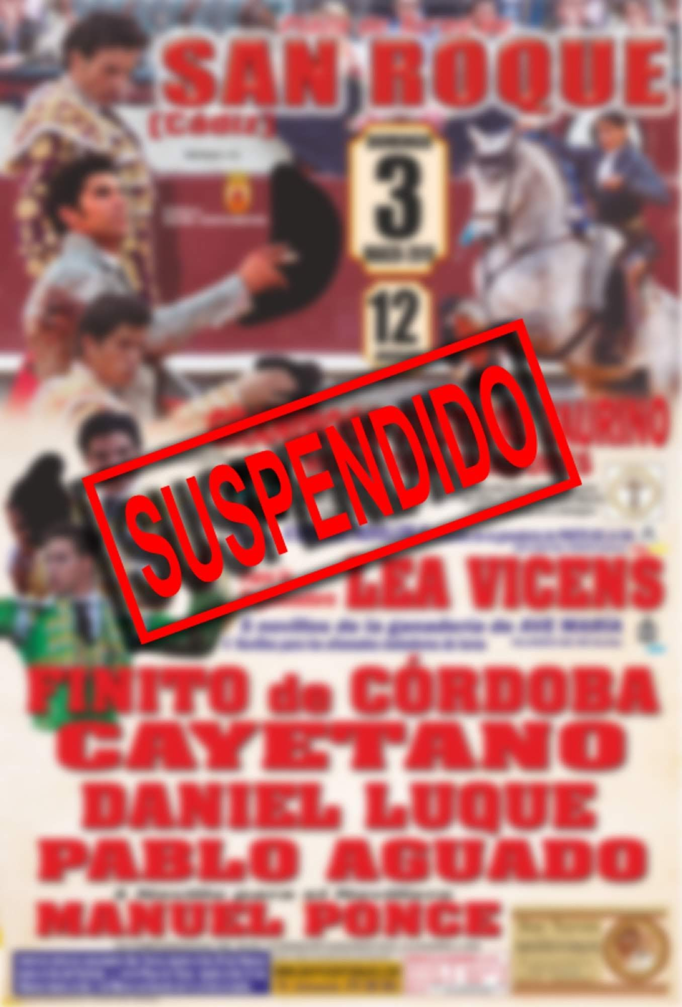 Suspendido el Festival Taurino Mixto del próximo domingo por cuestiones burocráticas