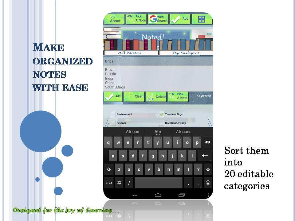 Noted! : A study notes app- screenshot