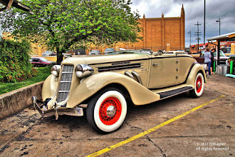 Photo: Auburn on Cherry Street in Tulsa.  Maybe a straight 8 cylinder engine? Tone mapped HDR from a RAW file,